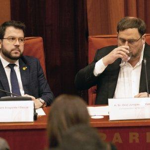 Aragonès i Junqueras comissio 155 .  EFE