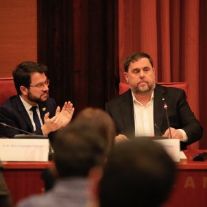 Aragonès Junqueras Parlament comissió 155 Sergi Alcàzar