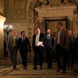 Aragonès Junqueras Torrent Parlament comissió 155 Sergi Alcàzar