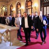 Entrada presos Parlament escales Junqueras Romeva Torrent Sergi Alcàzar