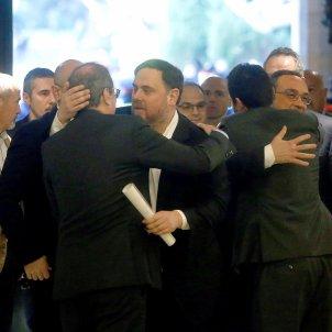 Torra abraça Junqueras Torrent abraça Turull comissió 155 EFE