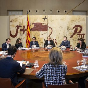 Consell executiu reunio govern Torra Aragonès - Sergi Alcazar