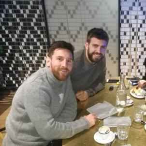 Messi, Fàbregas i Piqué @leomessi