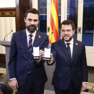 Pere Aragonès Roger Torrent presentacio pressupostos - ACN
