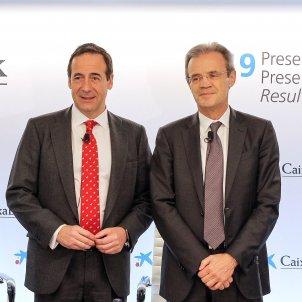 Gonzalo Gortázar i Jordi Gual resultats Caixabank EFE