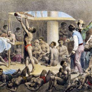 Europa il·legalitza el trafic d'esclaus. Bodega d'un vaixell negrer