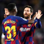 Ansu Fati Messi Barça EFE