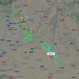 recorregut avio barajas   Flight radar